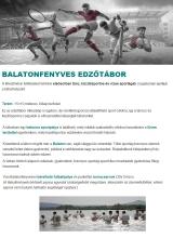 Táborhelyszínek Balatonfenyves edzőtábor