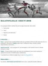 Táborhelyszínek Balatonlelle Hotel 300 edzőtábor