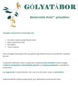 Táborhelyszínek Balatonlelle Hotel 500 gólyatábor