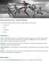 Táborhelyszínek Balatonlelle Hotel edzőtábor