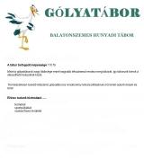 Táborhelyszínek Balatonszemes Hunyadi Tábor gólyatábor