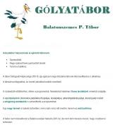 Táborhelyszínek Balatonszemes P. Gólyatábor