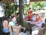 Táborhelyszínek Szántód Ifjúsági Hotel kerthelyiség