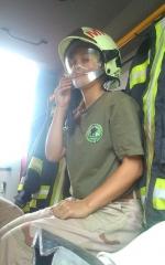 Táborhelyszínek - Mezőhegyes Ifjúsági Tábor tűzoltó autóban
