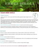 Táborhelyszínek Kaszó Erdei Iskola