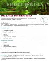 Táborhelyszínek Tata Ifjúsági Tábor Erdei Iskola