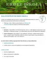 Táborhelyszínek Balatonföldvár Erdei Iskola