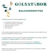 Táborhelyszínek Balatonfenyves gólyatábor 2