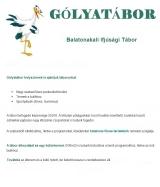 Táborhelyszínek Balatonakali Gólyatábor