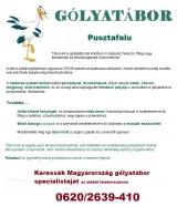 Táborhelyszínek Pusztafalu gólyatábor