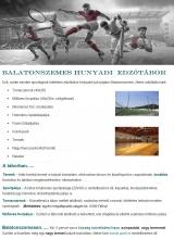 Táborhelyszínek Balatonszemes Hunyadi edzőtábor